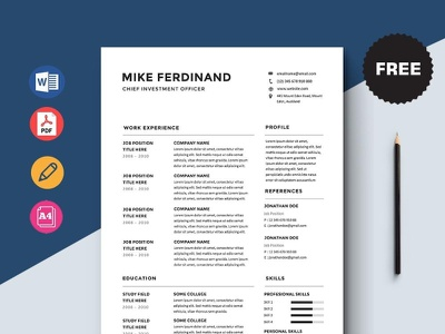 Free Chief Investment Officer Resume Template free cv cv template freebie curriculum vitae free cv template free resume template freebies cv resume