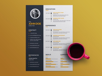 Free Creative Employment Resume Template eps ai free resume template freebies cv resume