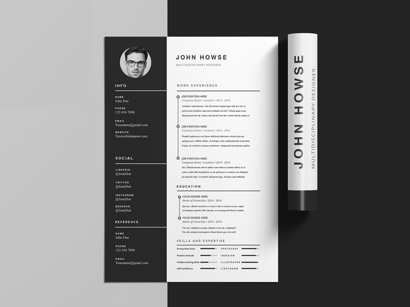 Howse Free Indesign CV Template
