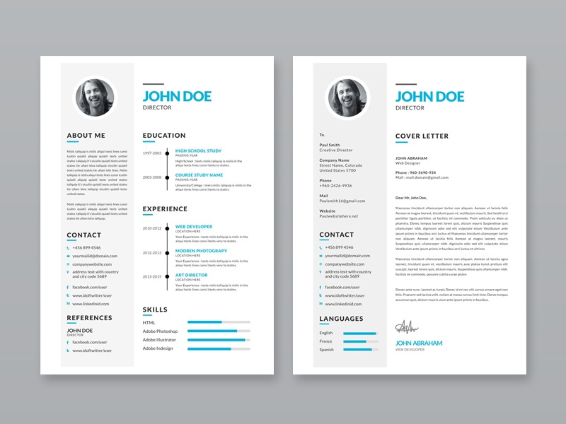 free simple illustrator resume template by julian ma dribbble