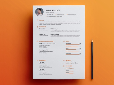 Free Smart Resume Template with Matching Cover Letter curriculum vitae illustrator photoshop psd free cv template cv free resume template resume