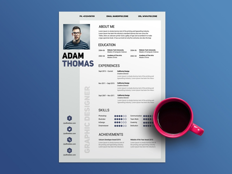 free clean modern resume template by julian ma dribbble dribbble
