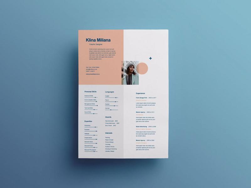 Free Split Style Resume Template by Julian Ma on Dribbble