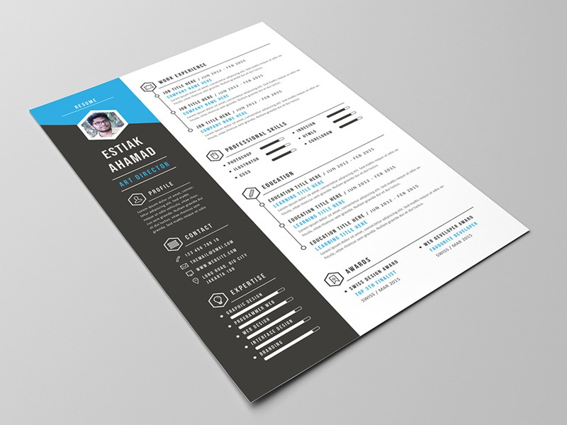 Free Creative Resume Template by Julian Ma on Dribbble