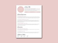 Free Beautiful Pink Resume Template