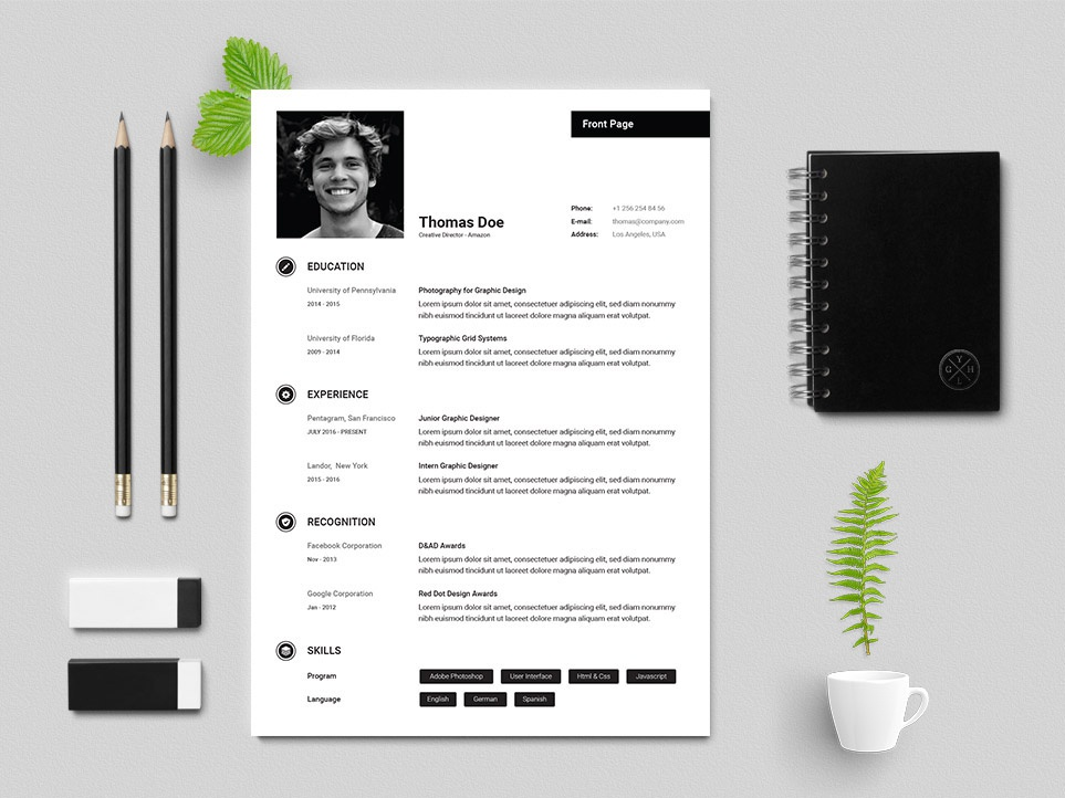 Free Creative Director Resume Template By Julian Ma Dribbble