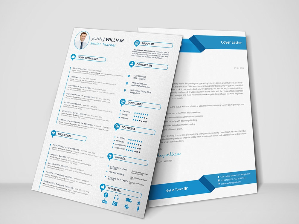 Free Teacher Resume Template With Cover Letter by Julian Ma ...