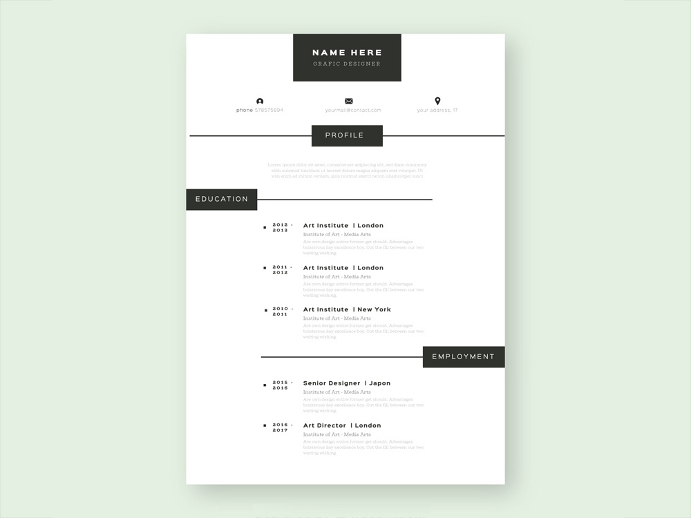 free simple vector cv template for your job hunting simple illustrator cv template ai eps curriculum