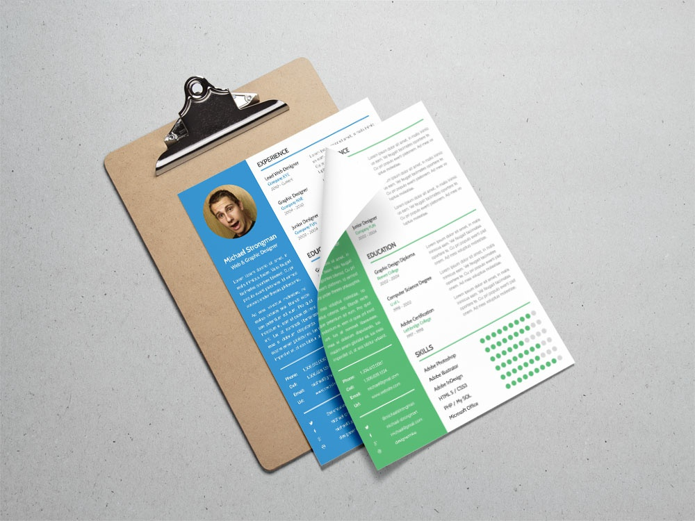 Free Resume Template For Good First Impression Freebie Cv Photoshop Curriculum Vitae Psd