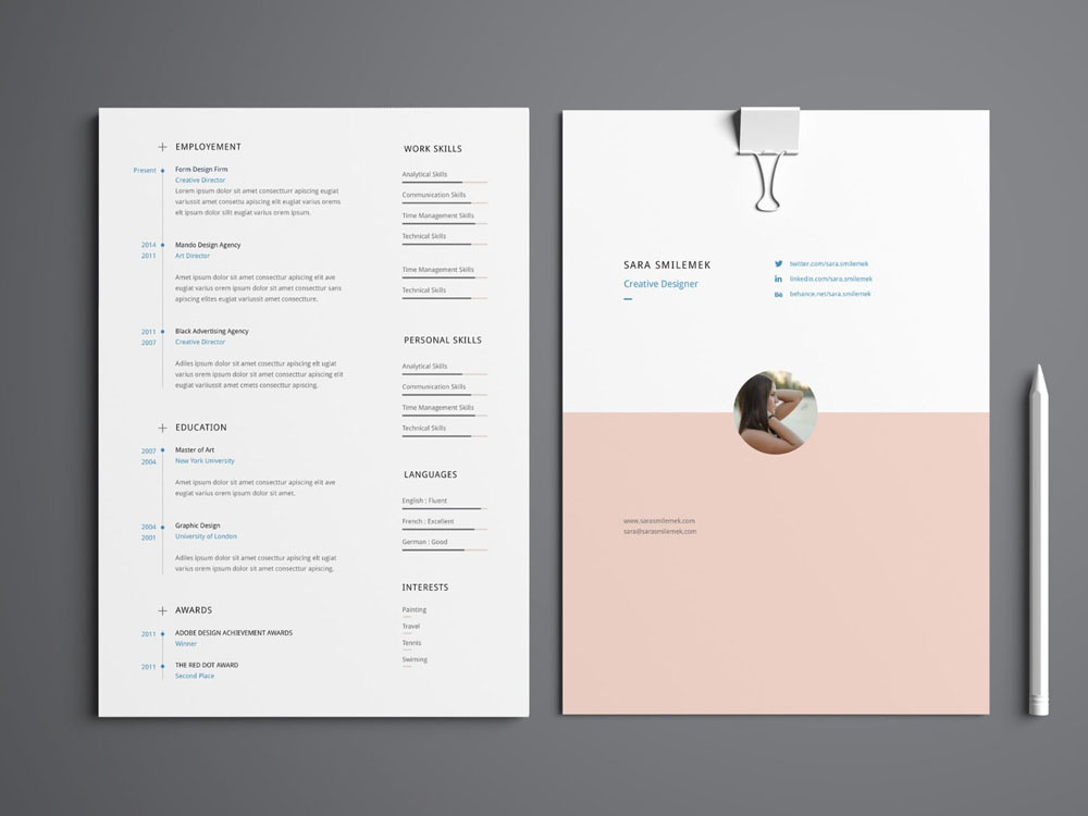 Free Resume Template with Cover Letter and Portfolio by Julian Ma ...