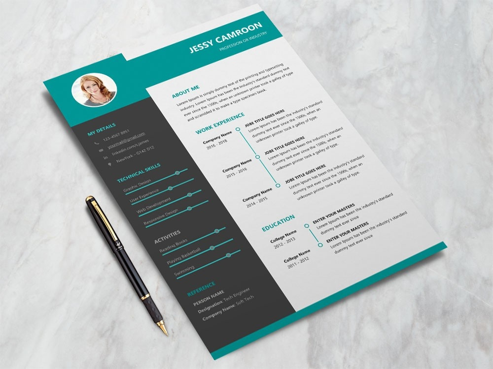free microsoft word resume template with modern design by julian ma on dribbble