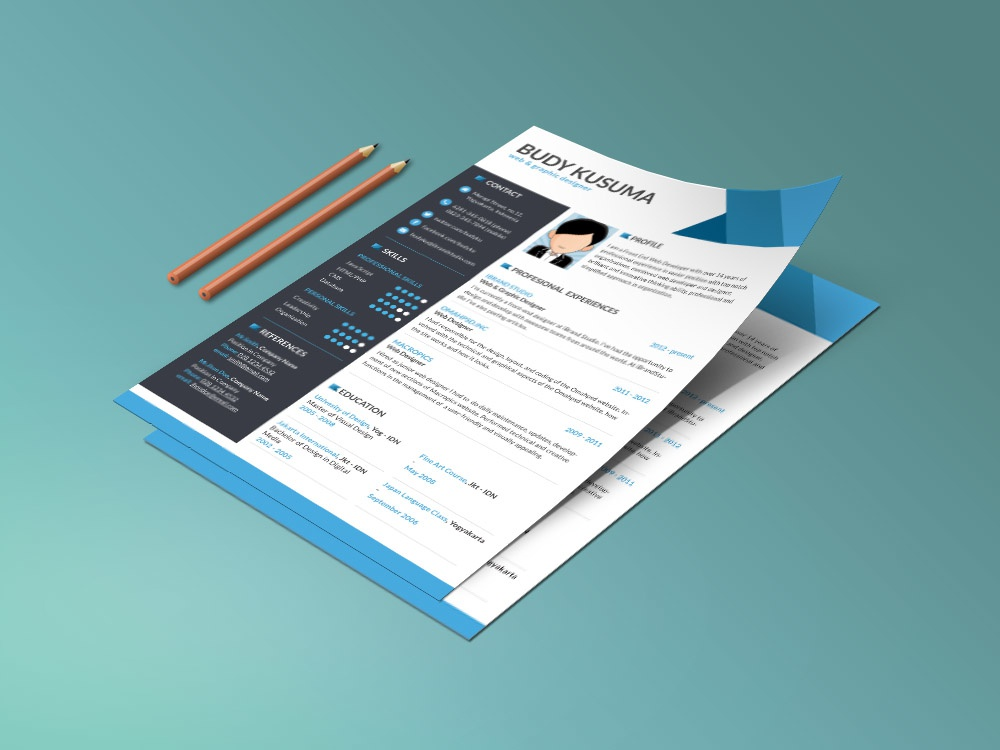 Free Clean And Modern Resume Template With Three Colors Option