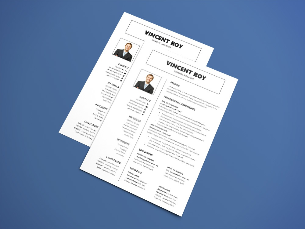 free formal resume microsoft word template by julian ma