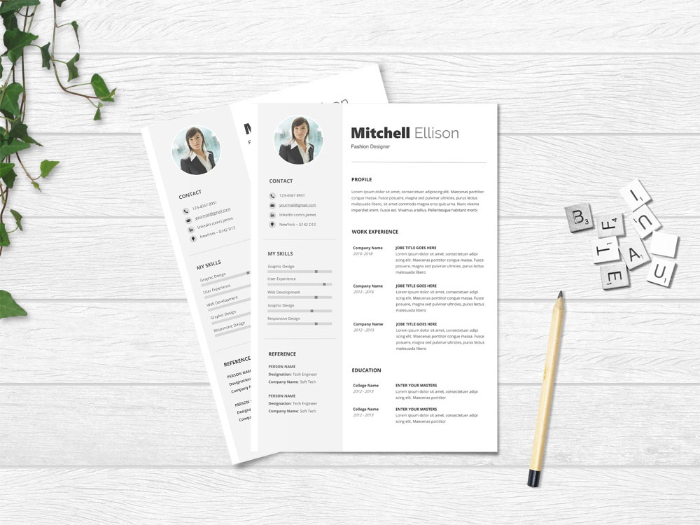 Free Basic Microsoft Word Resume Template By Julian Ma On Dribbble