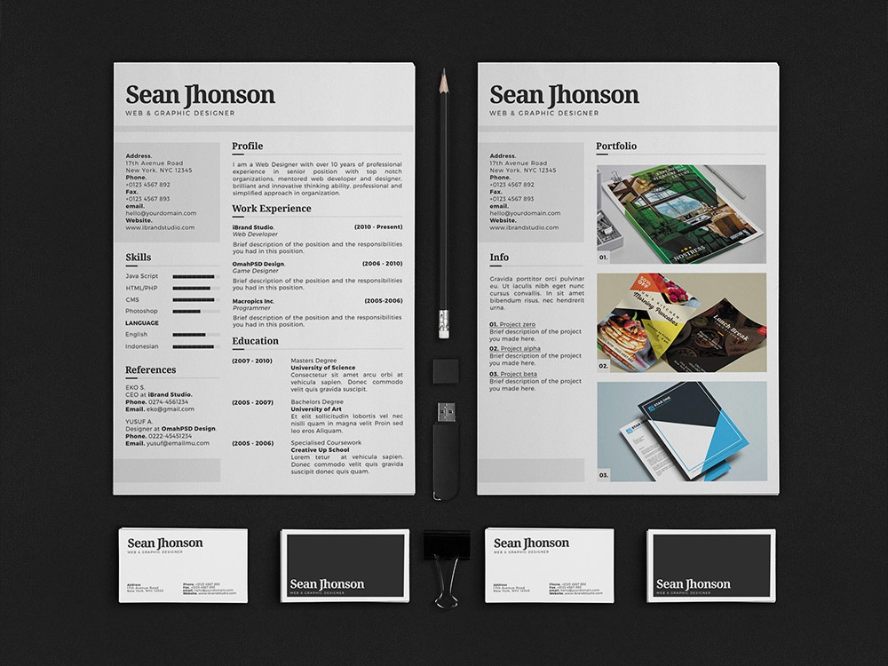 free personal identity resume template by julian ma dribbble