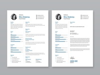 Free Simple Illustrator Resume Template