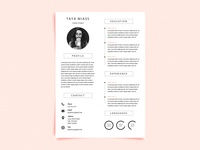 Free Resume Template With Super Minimalist Design