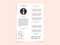Free Resume Template With Super Minimalist Design