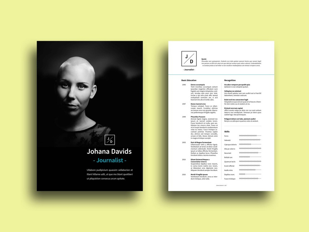 free journalist cv template with clean design by julian ma