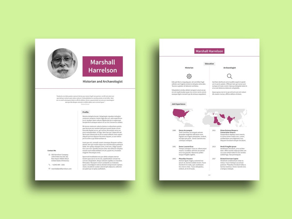 Free Lecturer Resume Template By Julian Ma Dribbble Dribbble