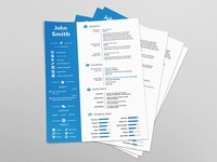 Free Four Version Resume With Clean Design