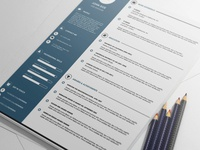 Free Amazing PSD CV Template