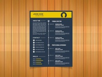 Free Timeline Vector Resume Template