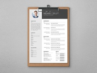 Free Illustrator Cv Template With Elegant Style Design
