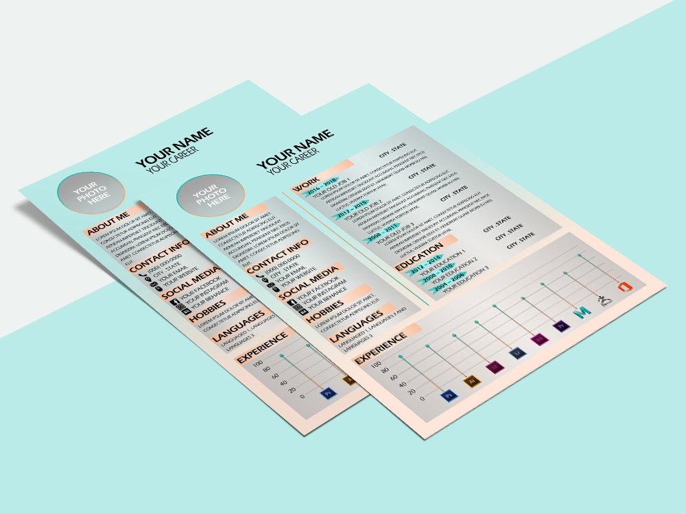 free neat resume template with soft colors by julian ma dribbble