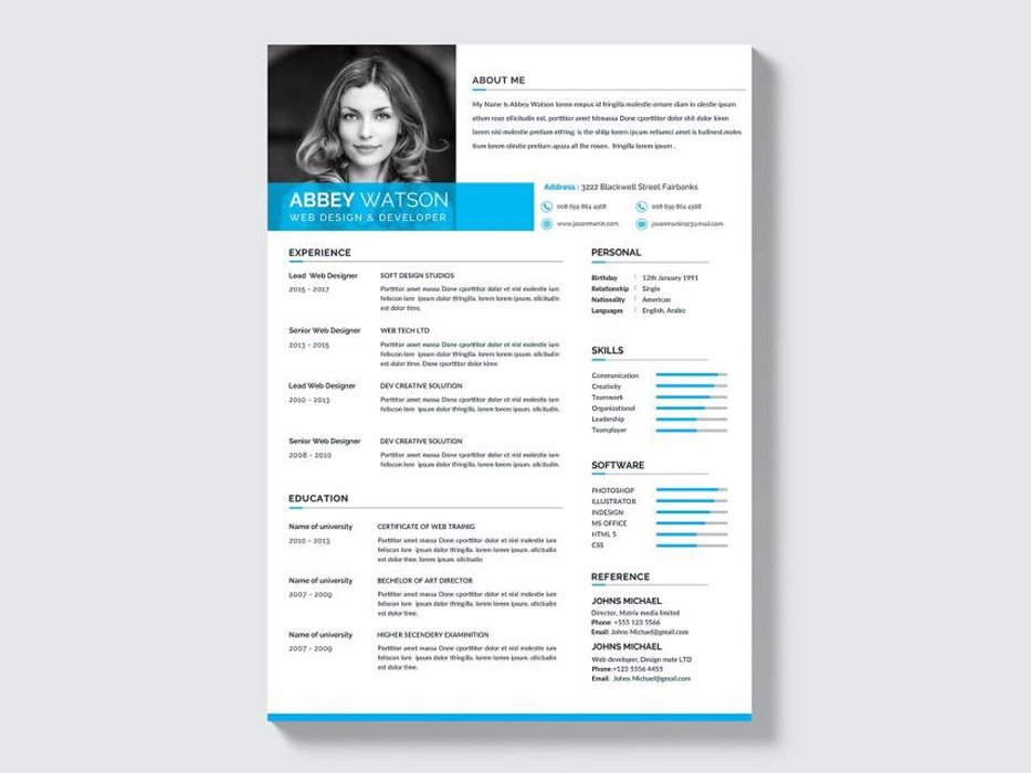 Free Formal Resume Template by Julian Ma on Dribbble