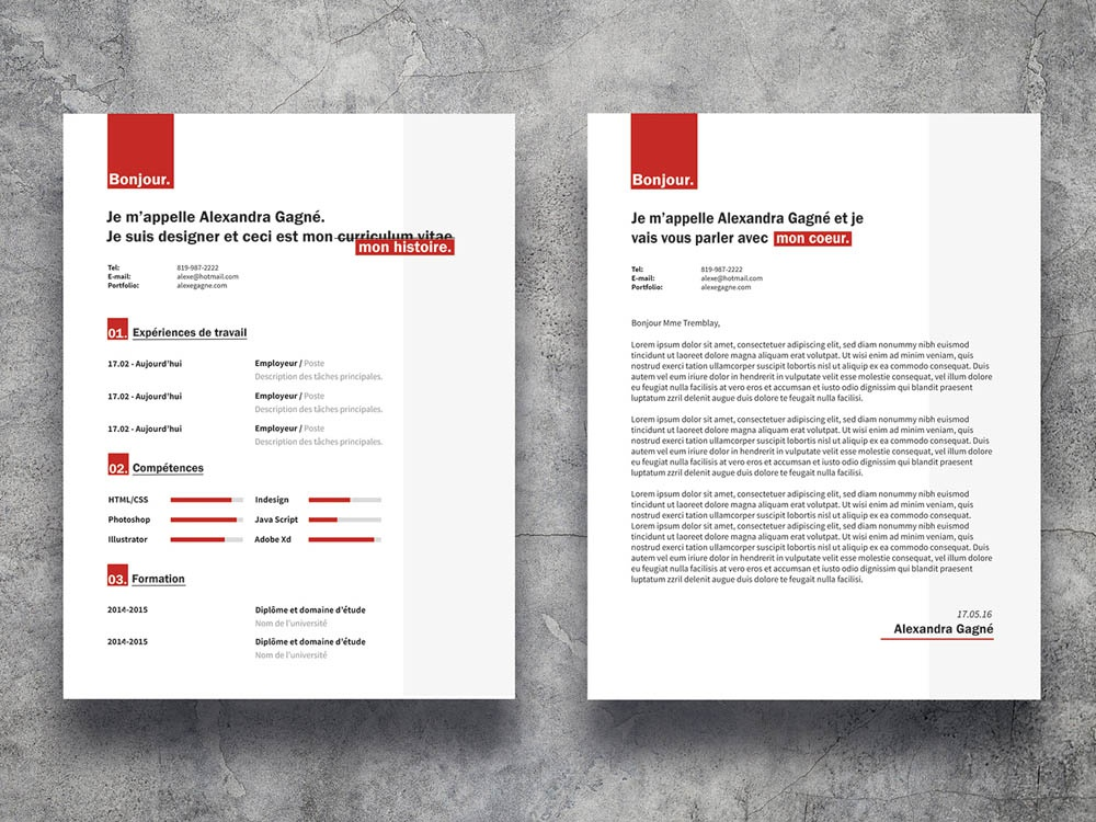 Free Red Resume Template With Cover Letter Page by Julian Ma ...