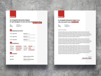 Free Red Resume Template With Cover Letter Page