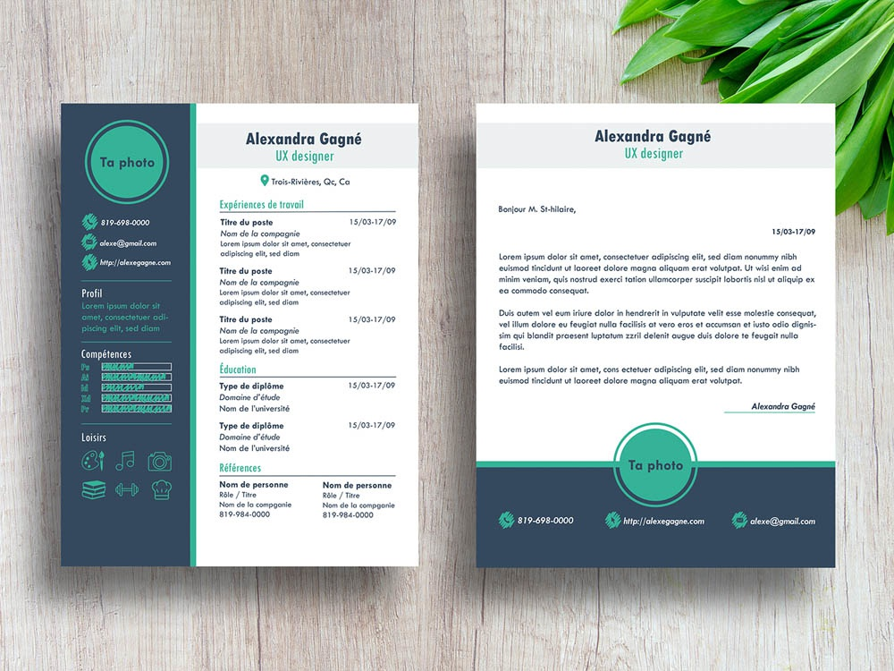 Free Modern Resume Template With Cover Letter Page