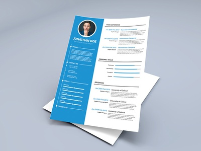 Free Cv Template Designs Themes Templates And Downloadable Graphic Elements On Dribbble