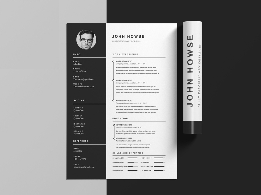 free clean cv template with cover letter by julian ma