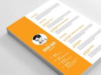 Free Editable Vector CV Template