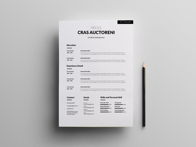 Free Simple Clean CV Template