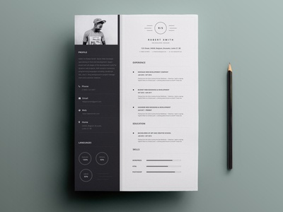 Free Black and White Resume Template