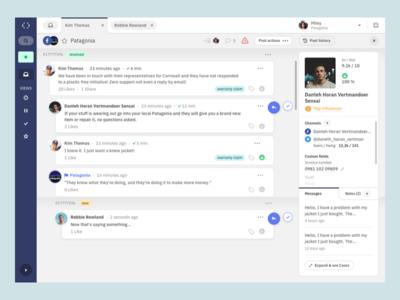 Post detail ux userexperience ui userinterface inbox desktop dashboard appdesign app customer care interaction