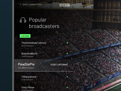 Custom broadcast bbc broadcast tv television ui userinterface interaction future cast youtube live sport