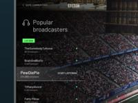 Custom broadcast
