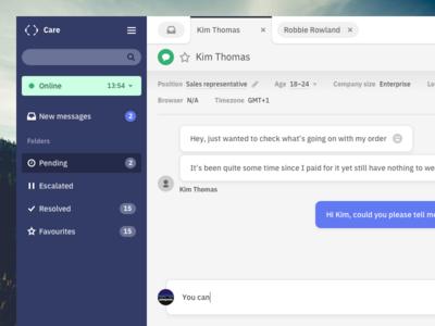 Left top corner (yeah) ux userexperience ui userinterface inbox desktop dashboard appdesign app customer care interaction