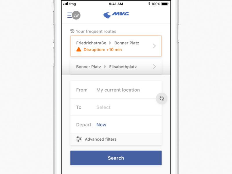 MVG — The onboarding project transportation transport public design interaction ui app ux