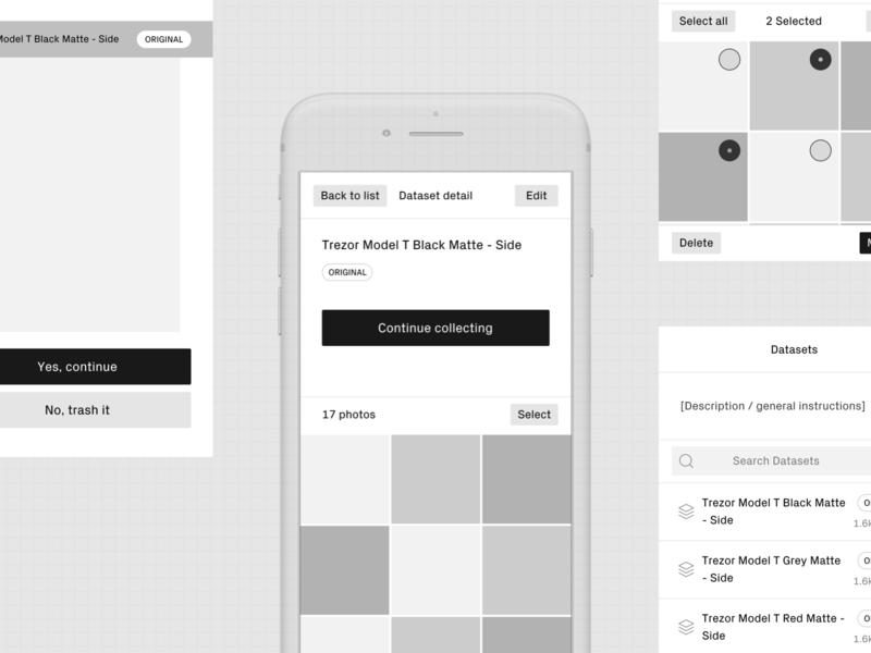 Data Collector II. figma wireframes ux ui design interaction ios app collector data