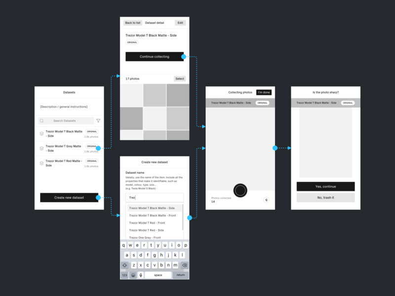 Data Collector III. wireframe map interaction ui ios process design data colllector app