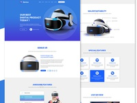 Vertual Reality Psd Template