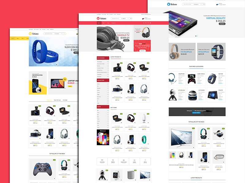 Tekno- Ecommerce Template technology shopping shop retail responsive product gadgets modern electronics store electronics e-commerce