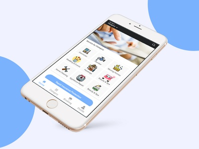 Home service app Home Screen branding logo business card agency corporate attractive clean card business