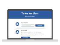 "DullesJustice.org ""Take Action"" wireframe - Part 2 of 3"