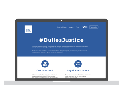 DullesJustice.org - Part 1 of 3 lean design wireframes ux design interaction design civic tech
